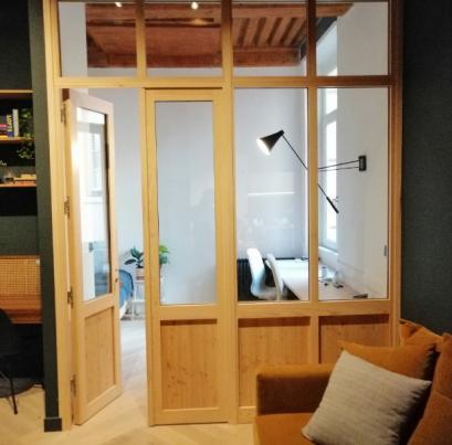 La Verrière Bois un Design exceptionnel pour une cloison de pièce intérieur - LYON 1er